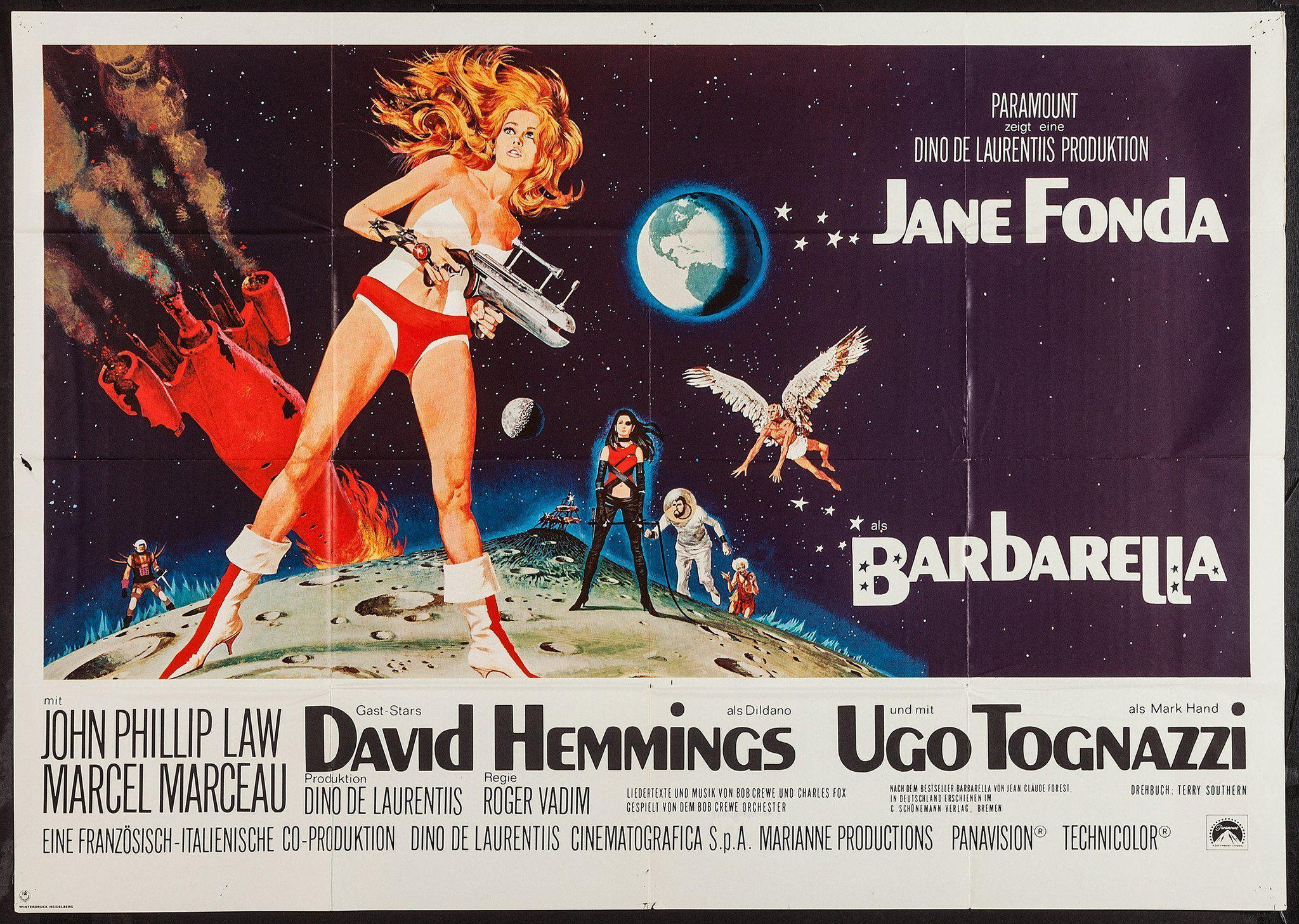 Barbarella Vintage Movie Poster | German A0 (33x46) Original Film ...