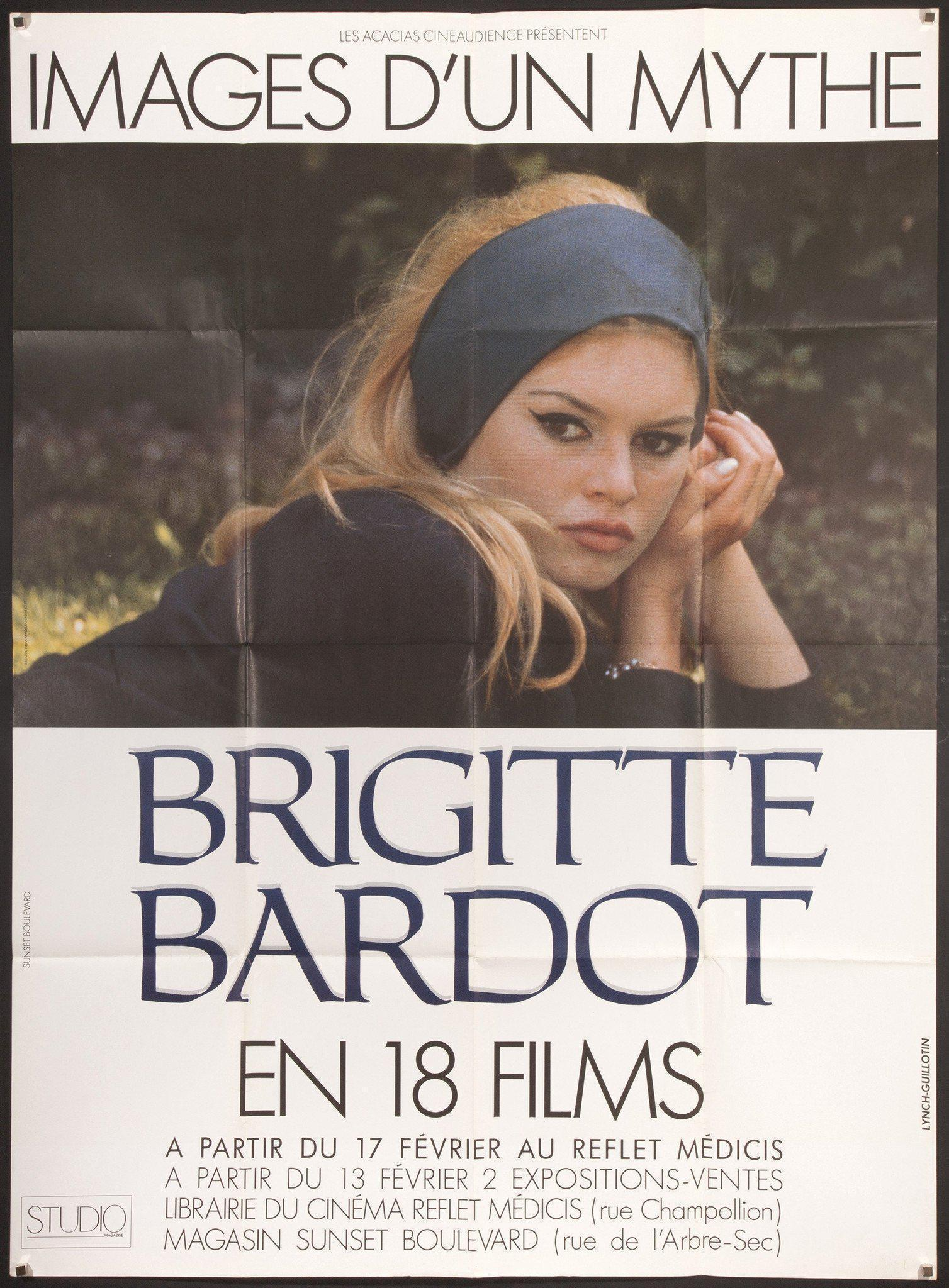 Bardot - Images of a Myth French 1 panel (47x63) Original Vintage Movie Poster