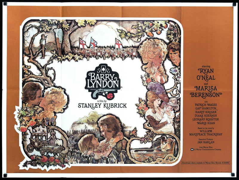 Barry Lyndon British Quad (30x40) Original Vintage Movie Poster