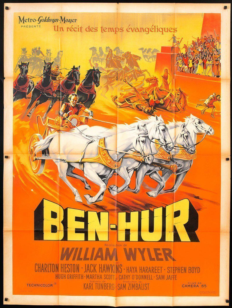 Ben Hur French 1 panel (47x63) Original Vintage Movie Poster