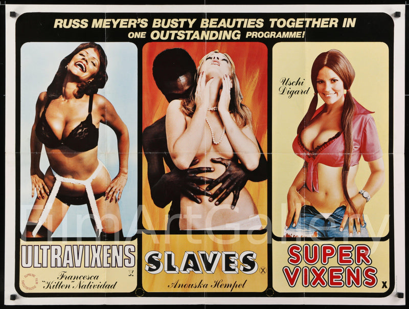 Beneath the Valley of the Ultra Vixens/Supervixens/Blacksnake British Quad (30x40) Original Vintage Movie Poster