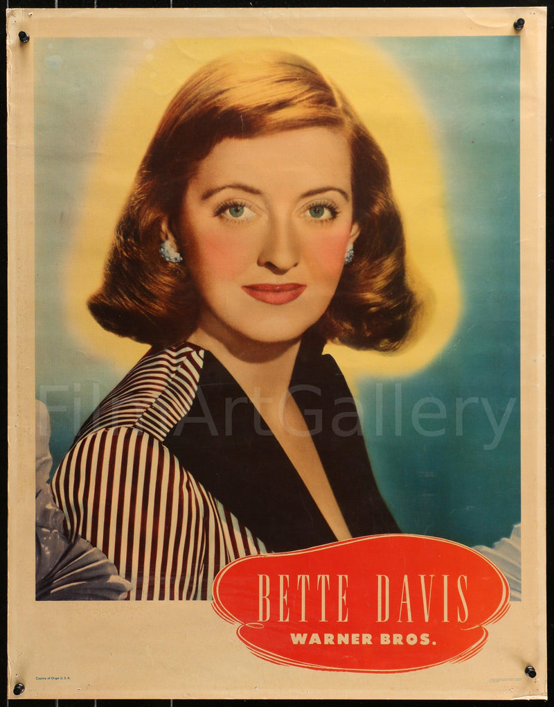 Bette Davis 22x28 Original Vintage Movie Poster