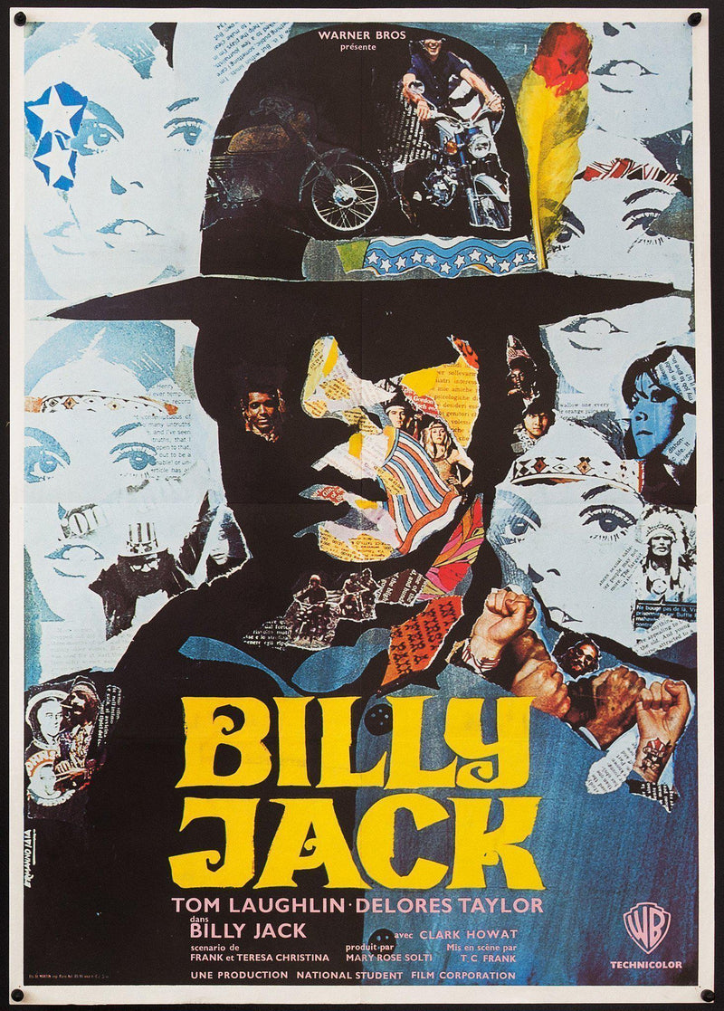 Billy Jack French small (23x32) Original Vintage Movie Poster