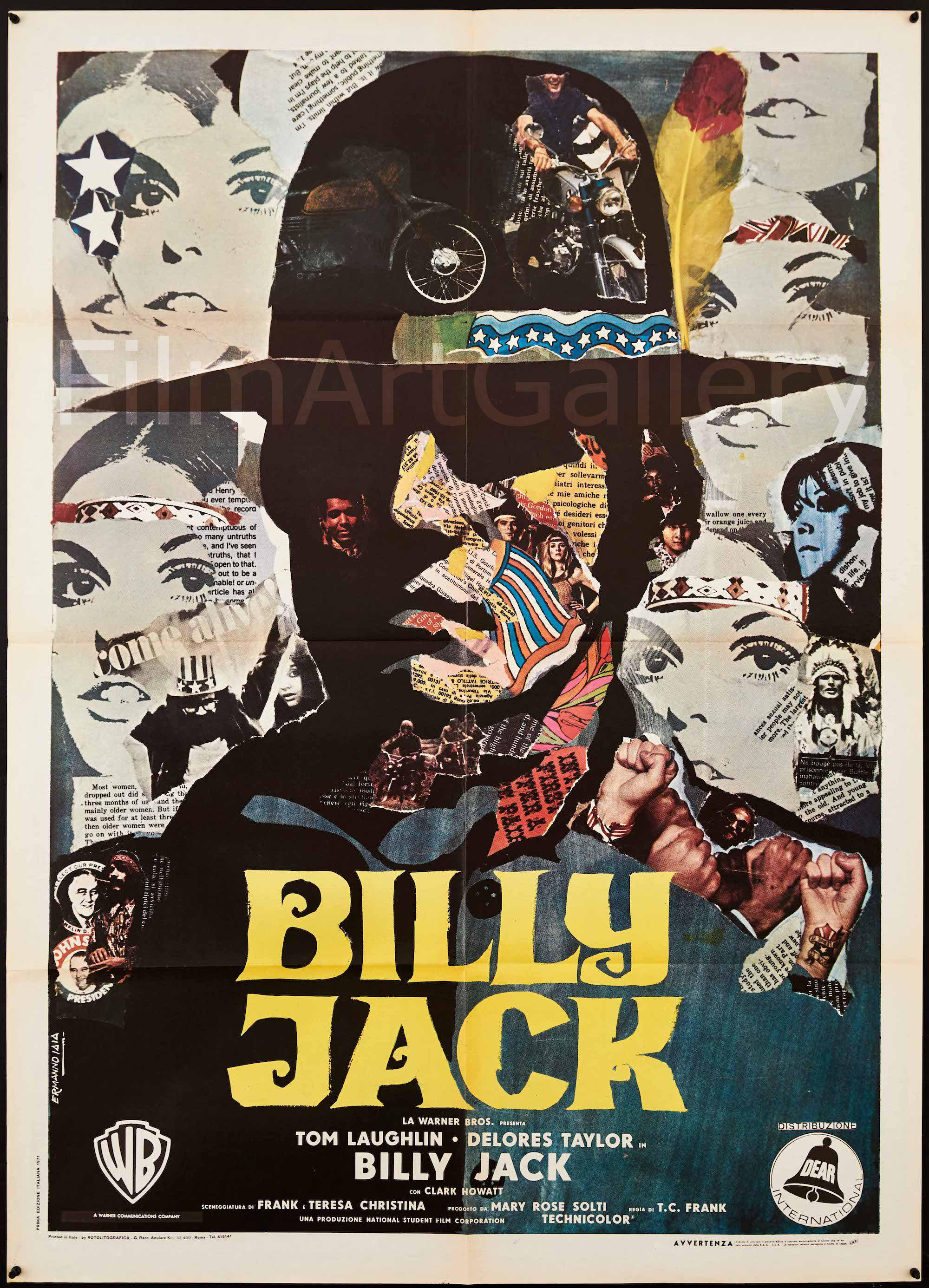 Billy Jack Italian 2 foglio (39x55) Original Vintage Movie Poster