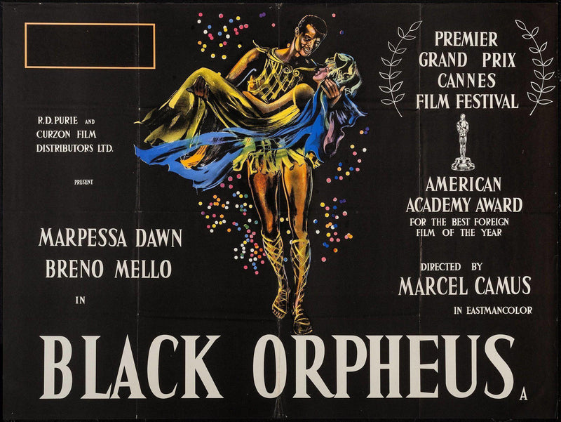 Black Orpheus (Orfeu Negro) British Quad Original Vintage Movie Poster