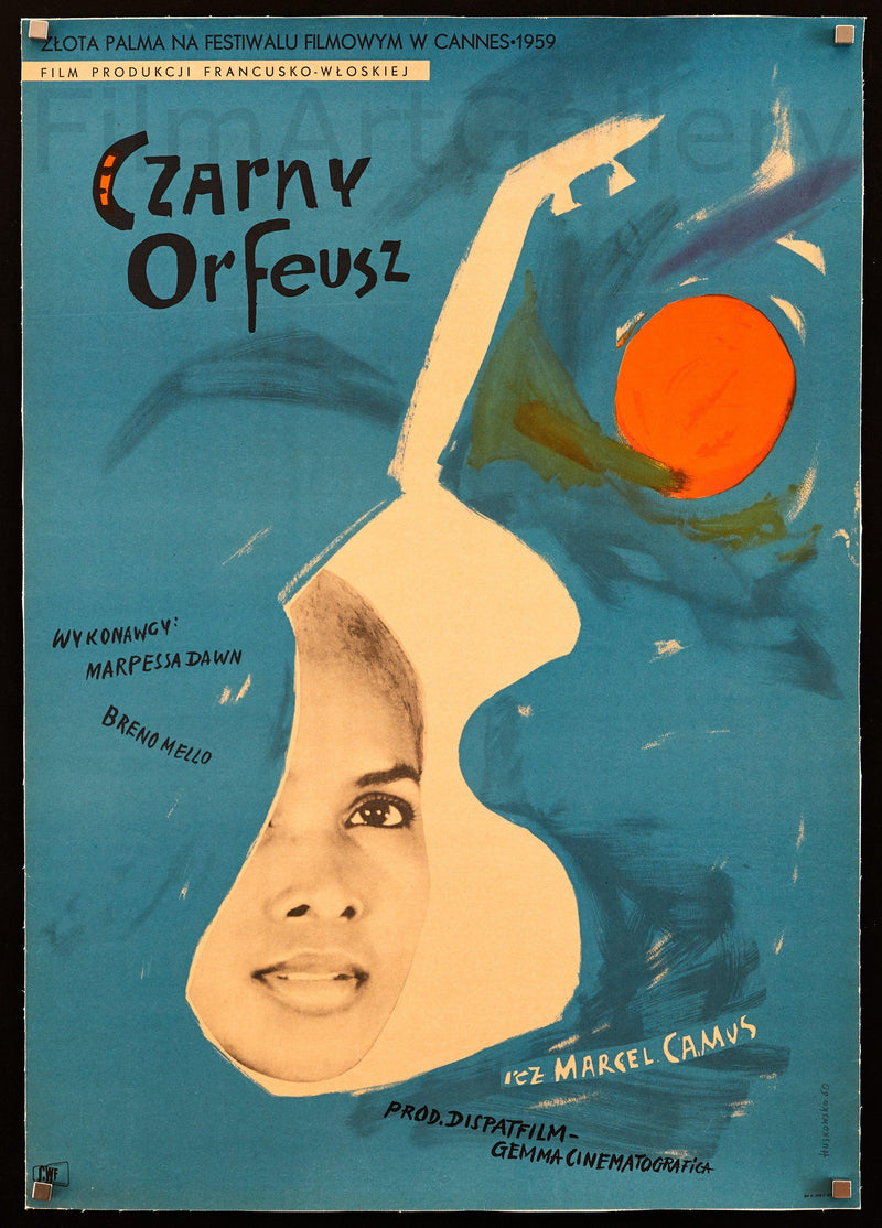 Black Orpheus (Orfeu Negro) Polish A1 (23x33) Original Vintage Movie Poster