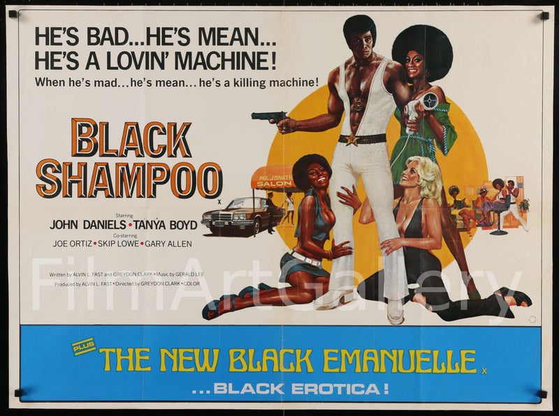Black Shampoo British Quad (30x40) Original Vintage Movie Poster