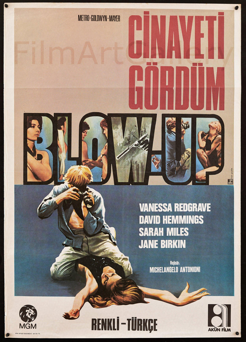 Blow Up 1 Sheet (27x41) Original Vintage Movie Poster