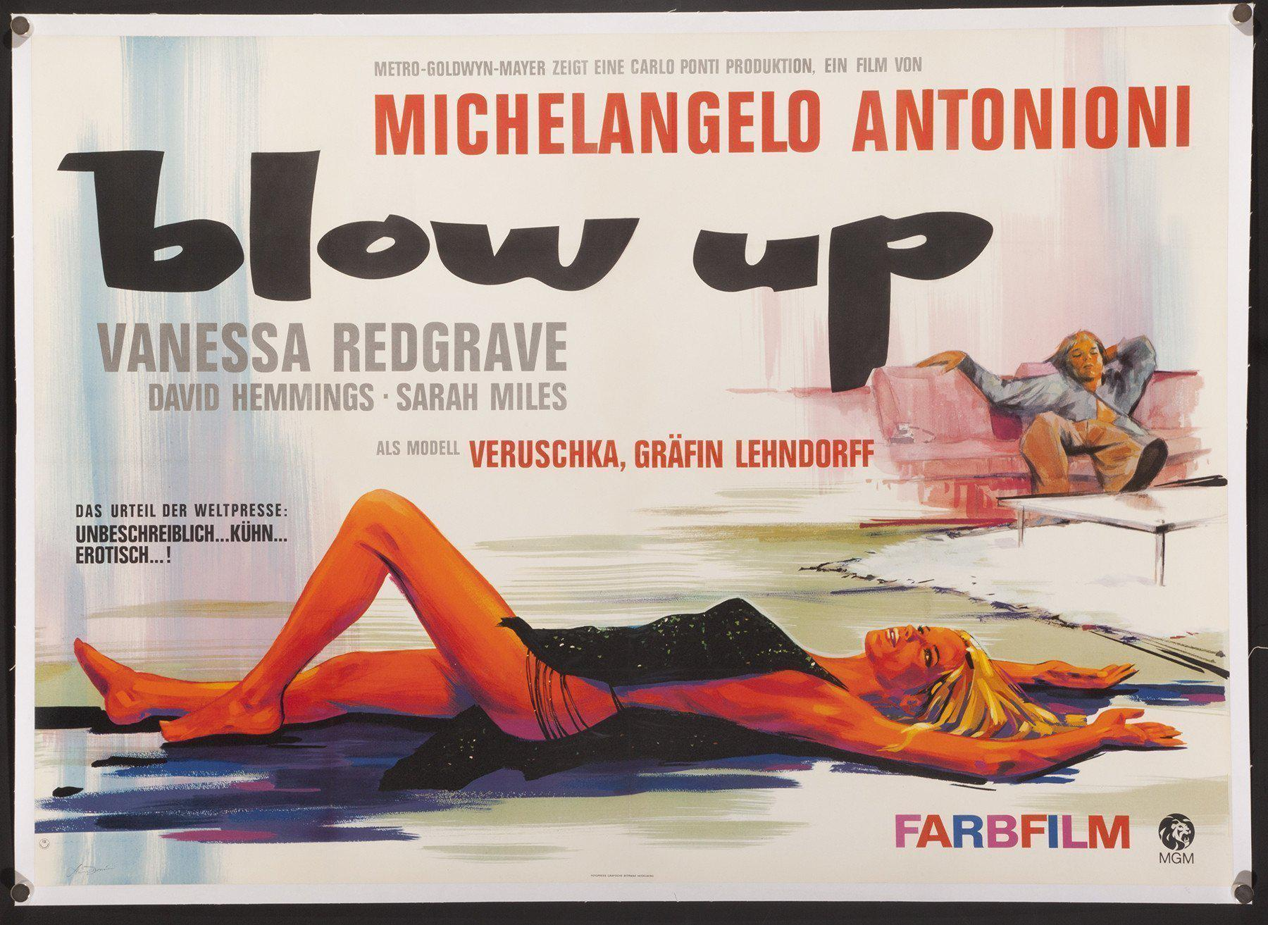 Blow Up German A0 (33x46) Original Vintage Movie Poster