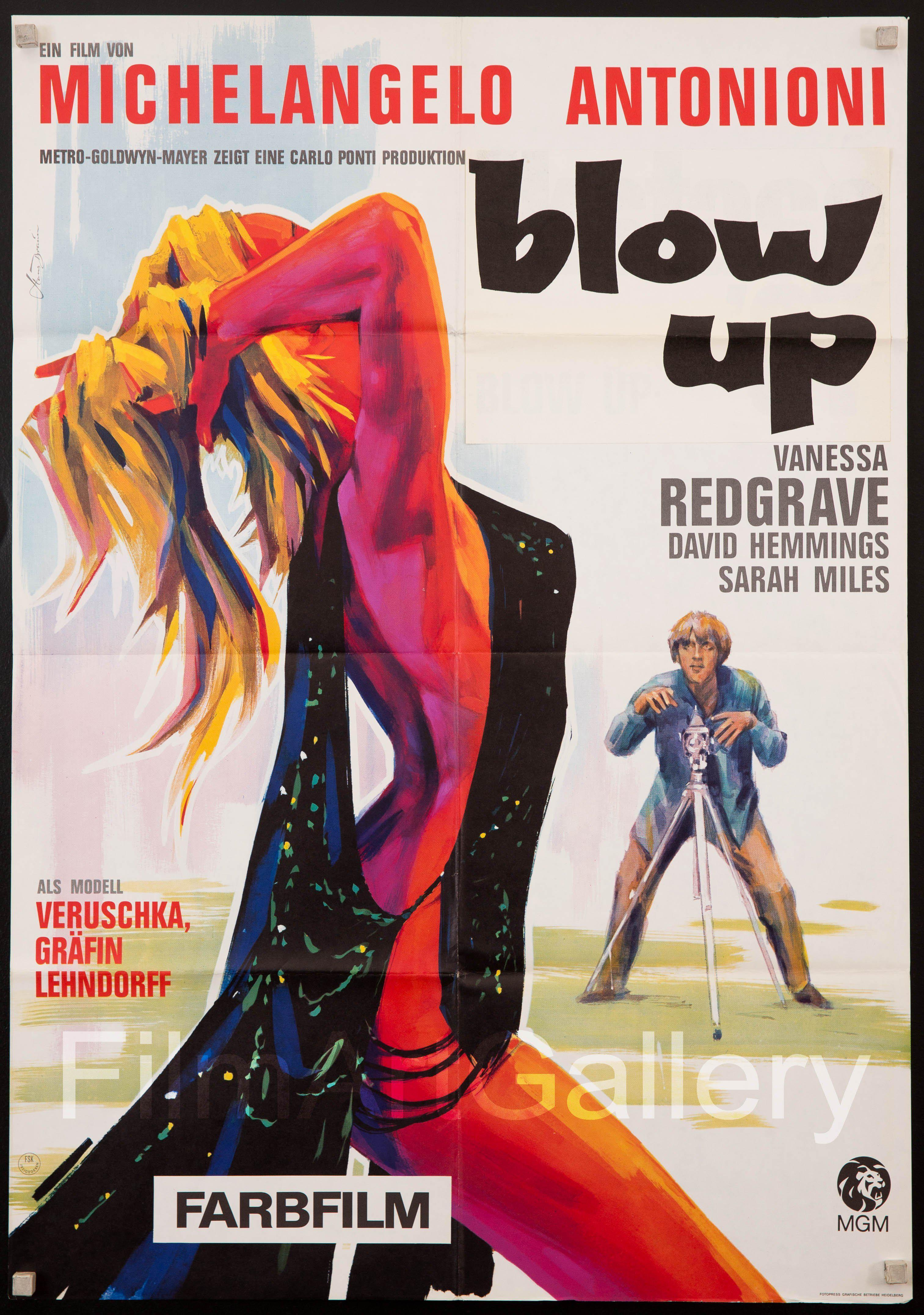 Blow Up German A1 (23x33) Original Vintage Movie Poster