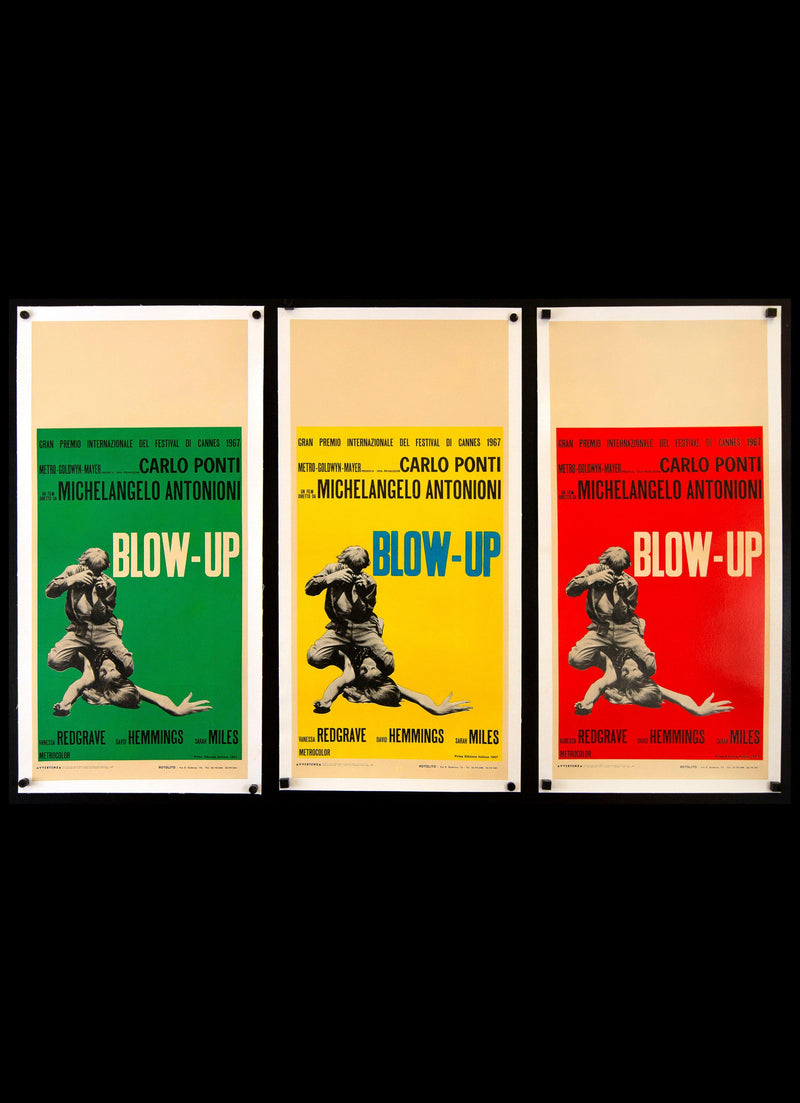 Blow-Up Italian Locandina (13x28) Original Vintage Movie Poster