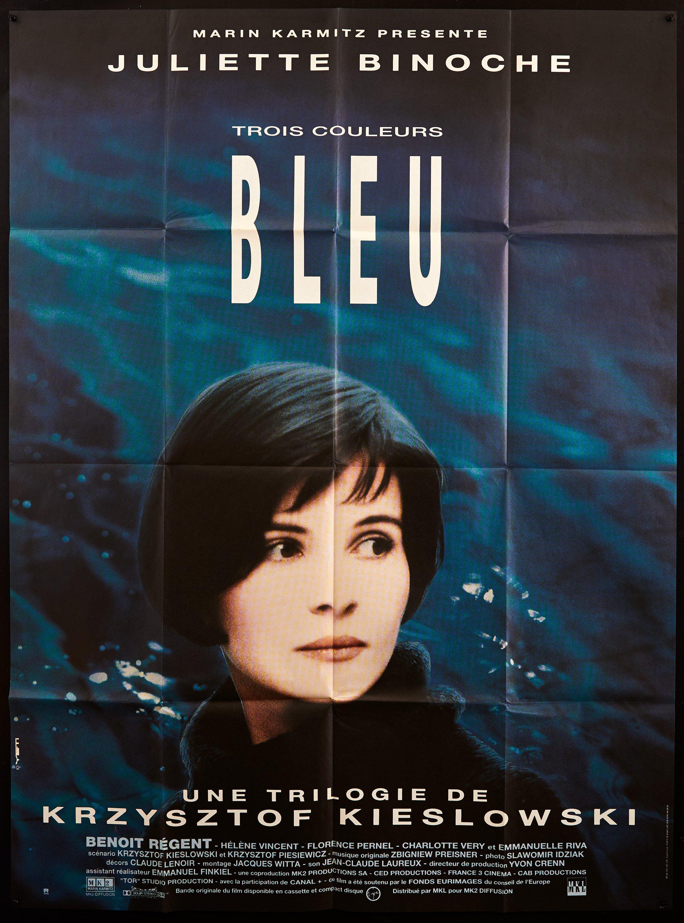 Blue (Bleu) French 1 panel (47x63) Original Vintage Movie Poster