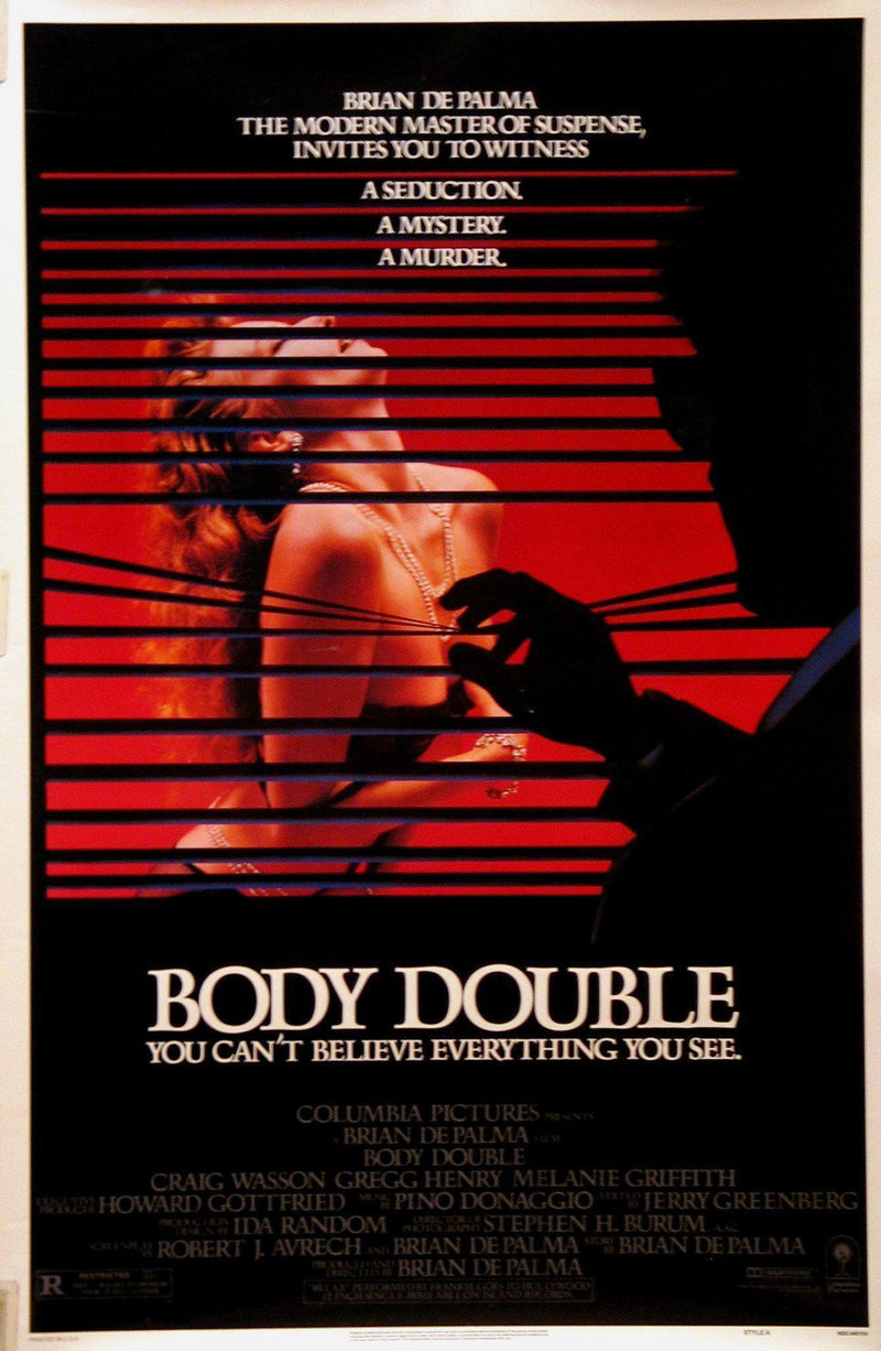 Body Double 1 Sheet (27x41) Original Vintage Movie Poster