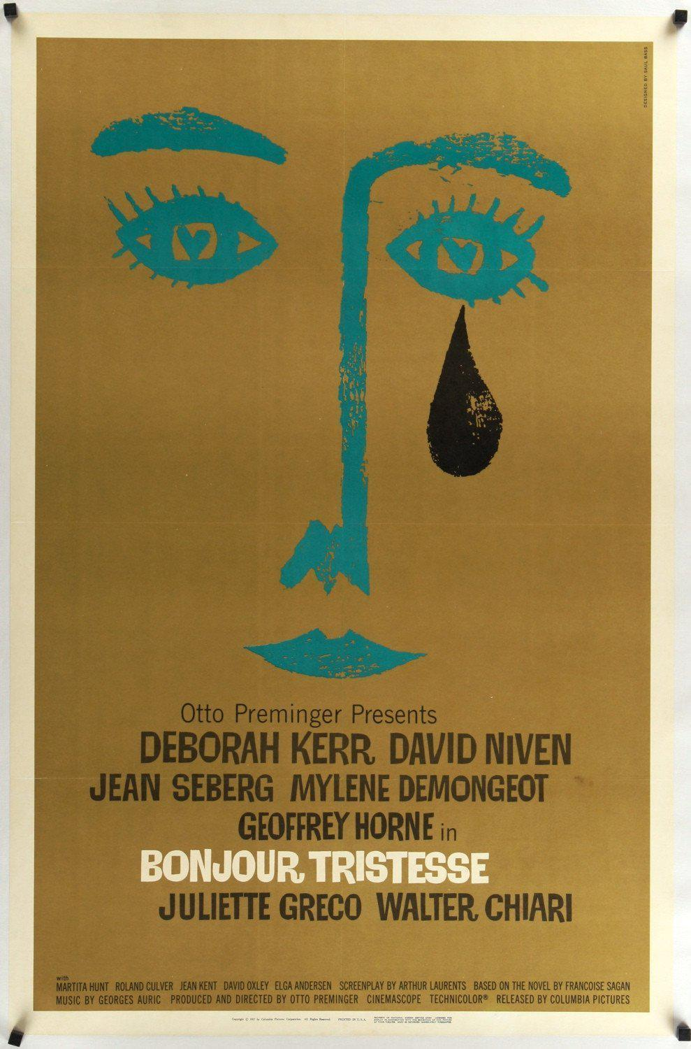 Bonjour Tristesse 1 Sheet (27x41) Original Vintage Movie Poster