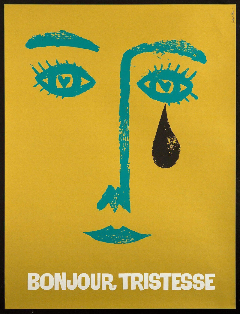 Bonjour Tristesse 25x32.5 Original Vintage Movie Poster