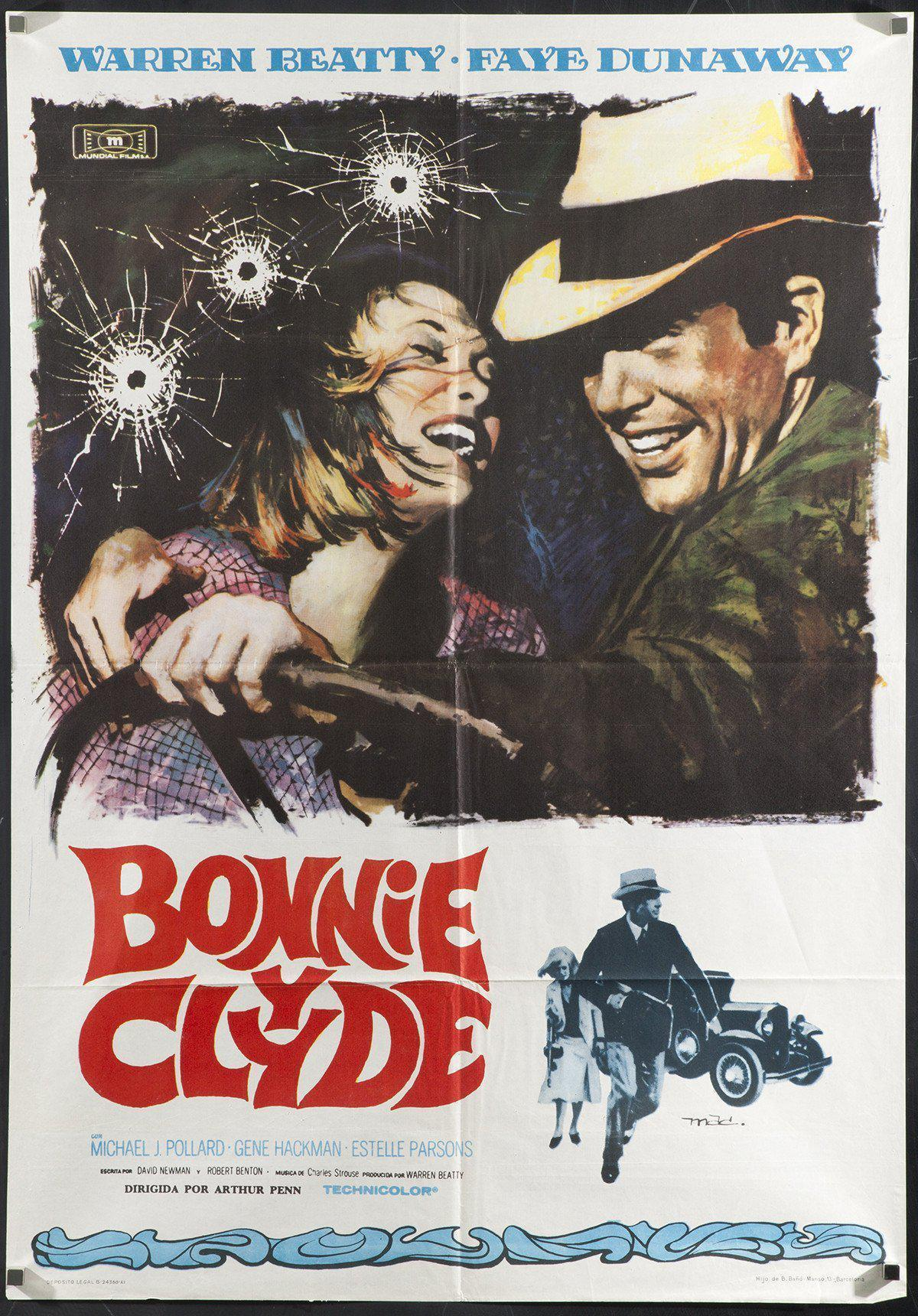 Bonnie and Clyde 1 Sheet (27x41) Original Vintage Movie Poster