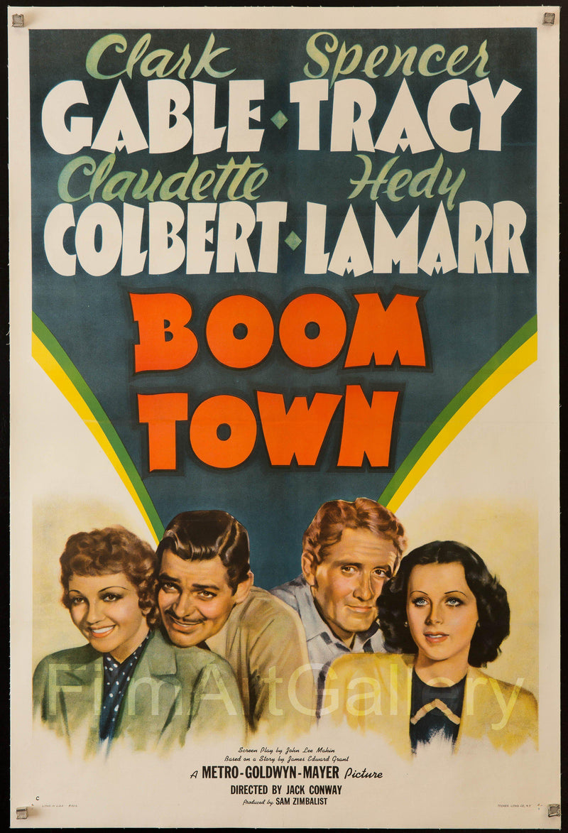 Boom Town 1 Sheet (27x41) Original Vintage Movie Poster