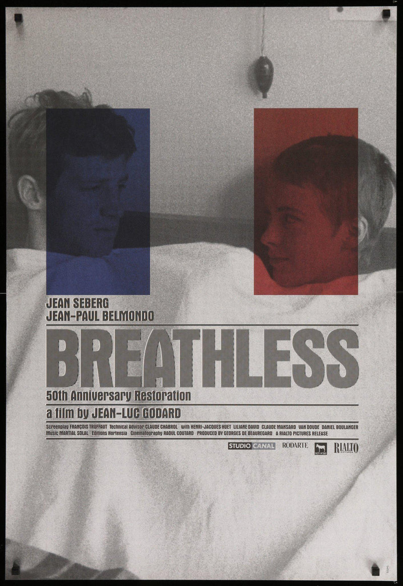 Breathless (A Bout De Souffle) 1 Sheet (27x41) Original Vintage Movie Poster