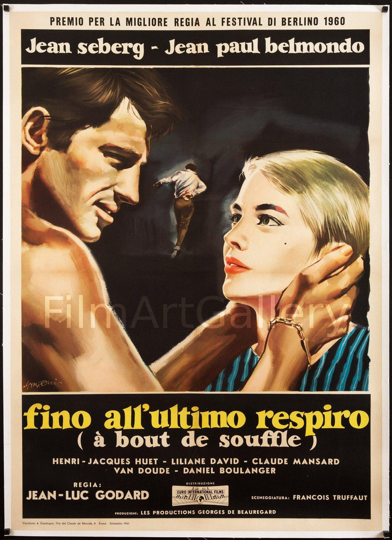 Breathless (A Bout De Souffle) Italian 2 Foglio (39x55) Original Vintage Movie Poster