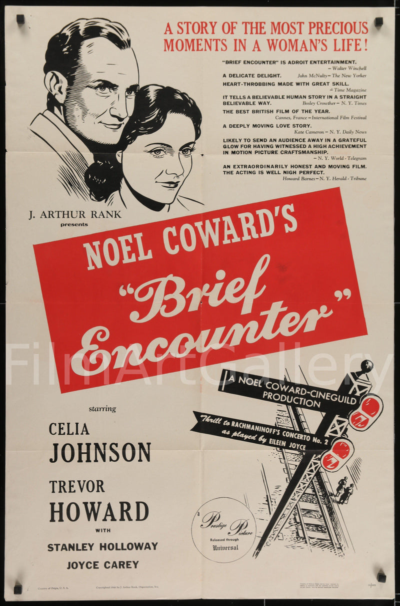 Brief Encounter 1 Sheet (27x41) Original Vintage Movie Poster