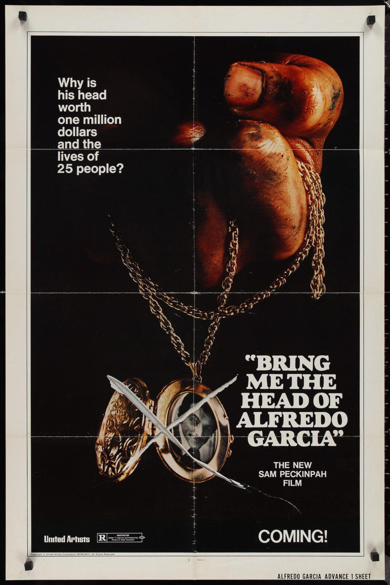 Bring Me the Head of Alfredo Garcia 1 Sheet (27x41) Original Vintage Movie Poster