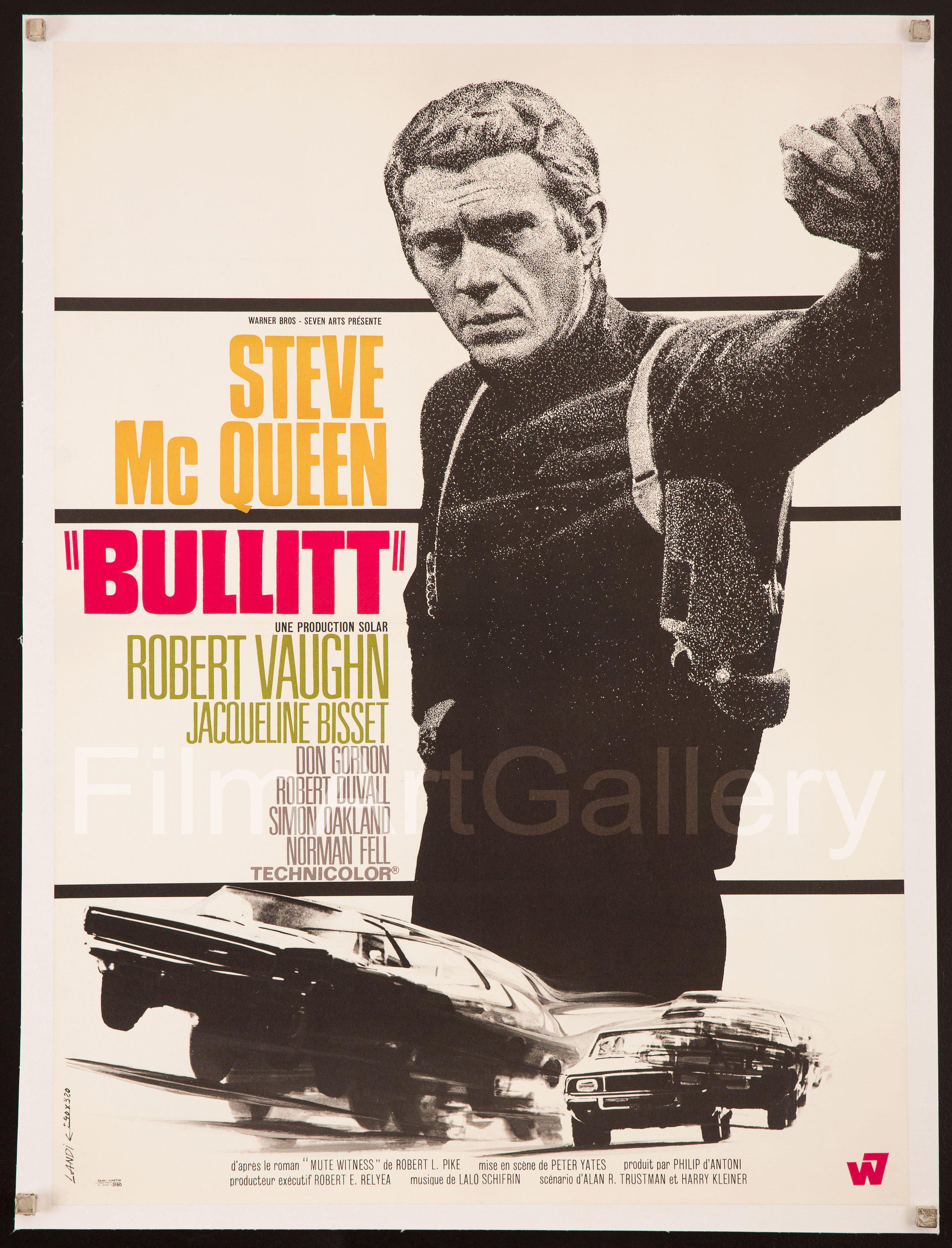 Bullitt French small (23x32) Original Vintage Movie Poster