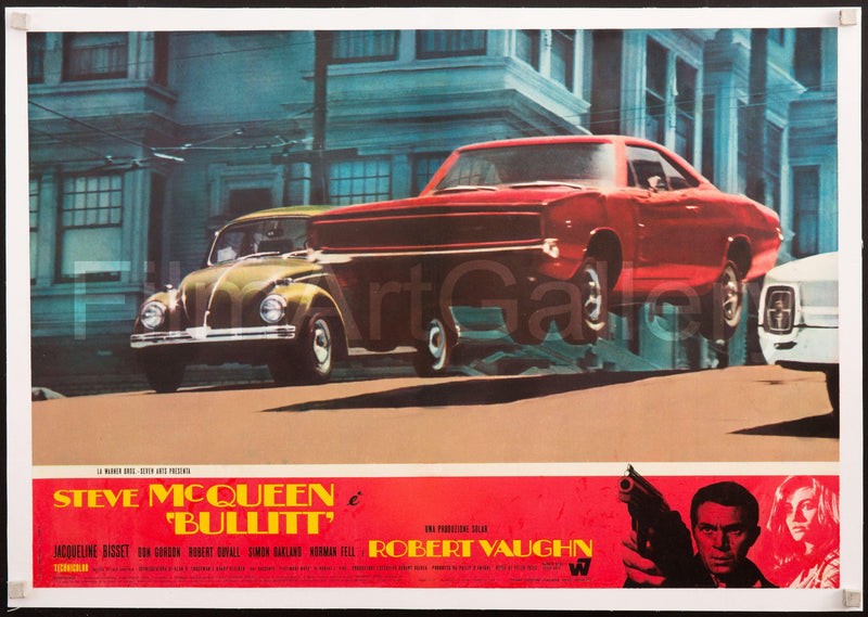 Bullitt Italian Photobusta (18x26) Original Vintage Movie Poster