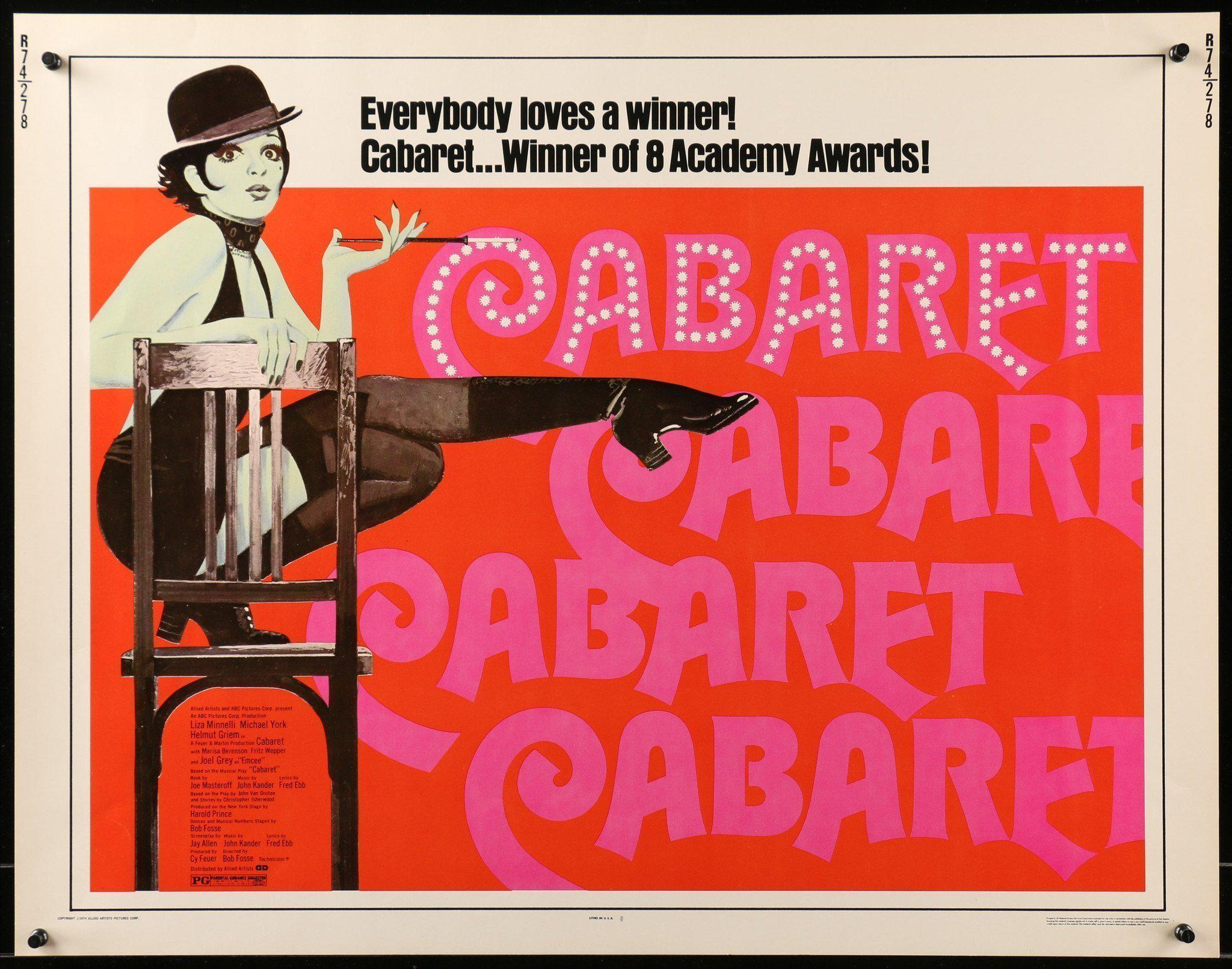 Cabaret Half Sheet (22x28) Original Vintage Movie Poster
