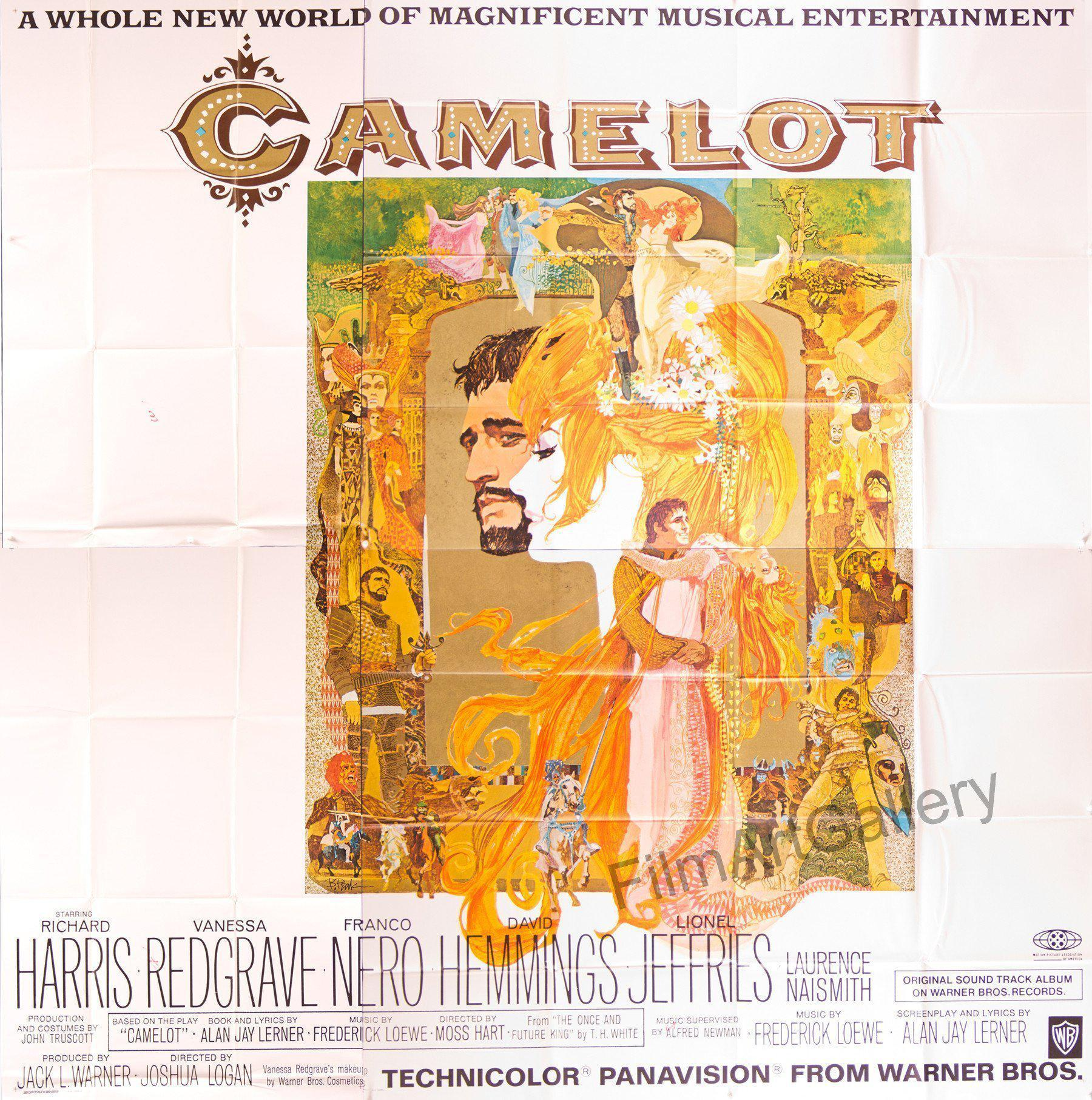 Camelot 6 Sheet (81x81) Original Vintage Movie Poster