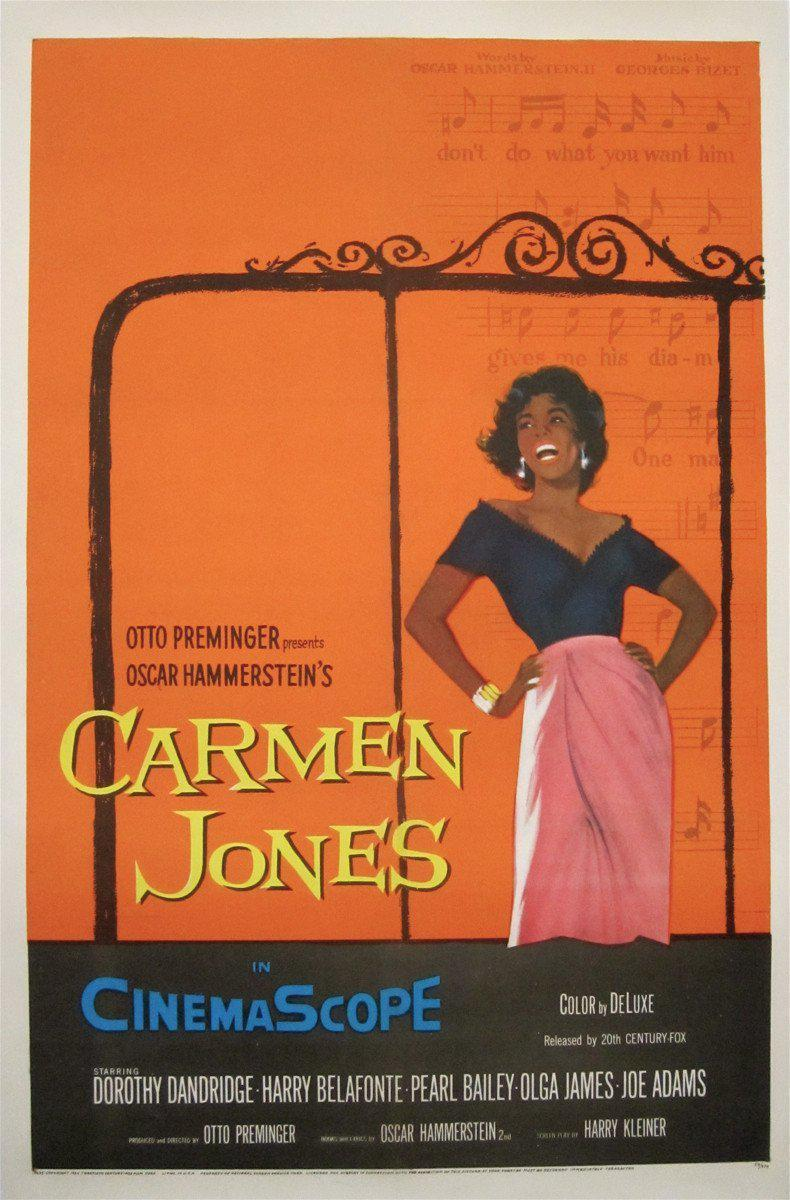 Carmen Jones 1 Sheet (27x41) Original Vintage Movie Poster