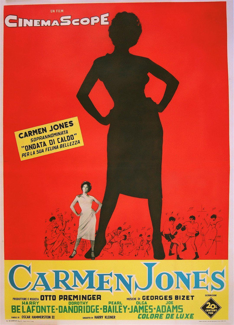 Carmen Jones Italian 4 foglio (55x78) Original Vintage Movie Poster