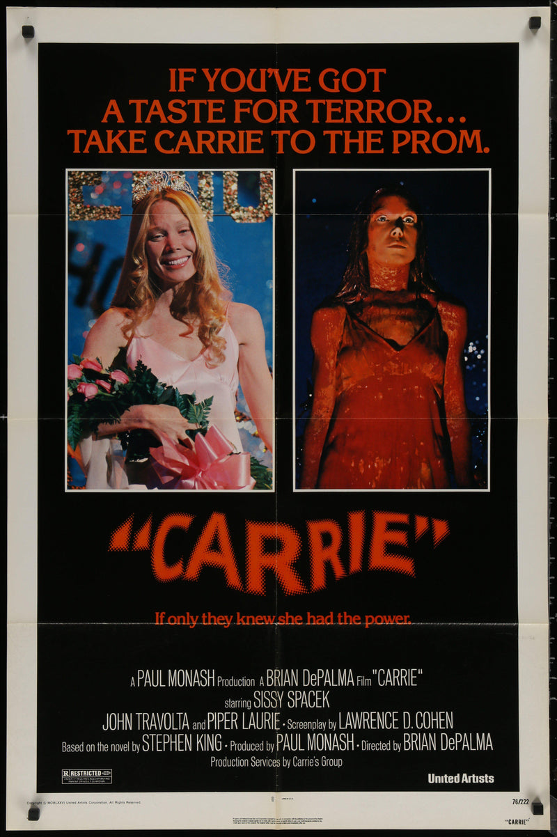 Carrie 1 Sheet (27x41) Original Vintage Movie Poster