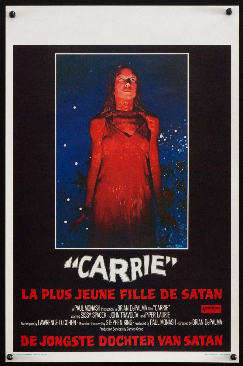 Carrie Belgian (14x22) Original Vintage Movie Poster