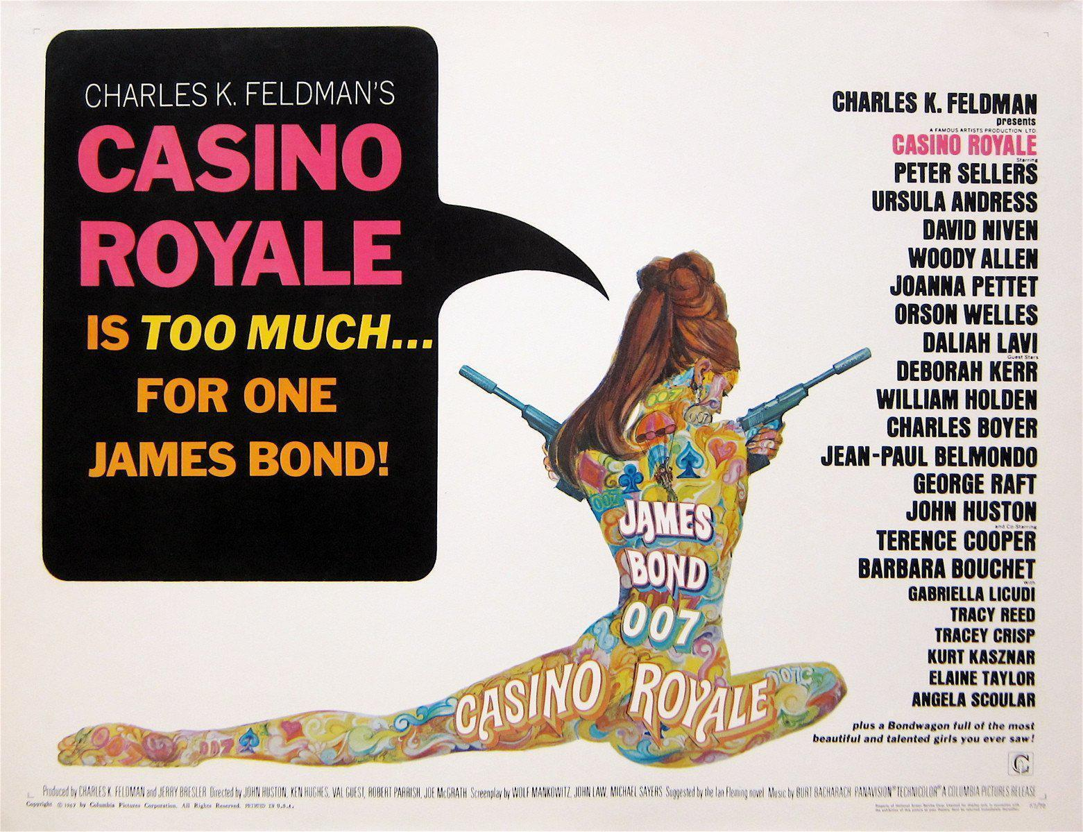 Casino Royale Vintage Movie Poster | Half sheet (22x28) Original ...