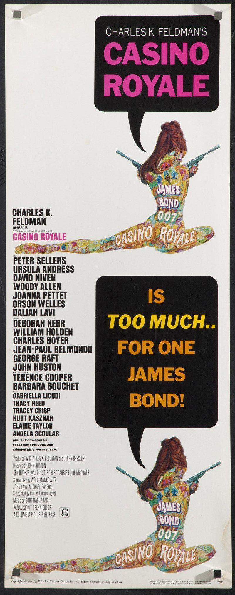 Casino Royale Insert (14x36) Original Vintage Movie Poster