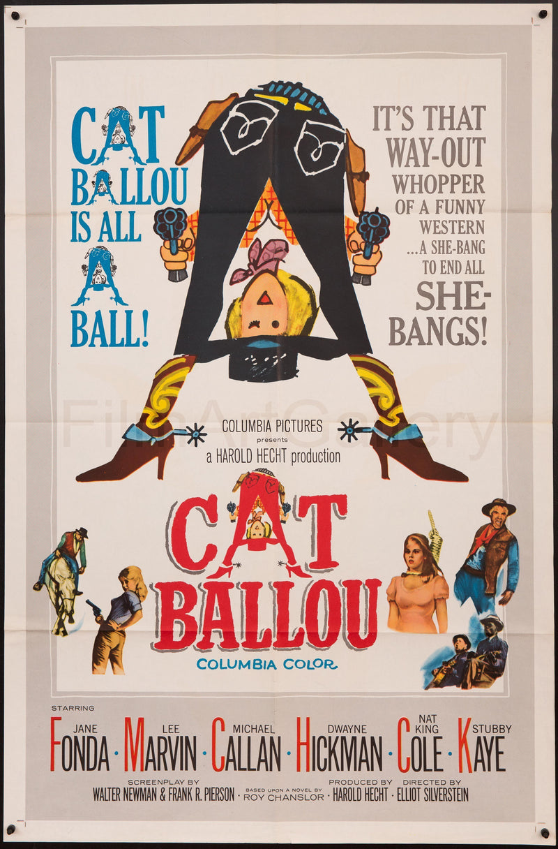 Cat Ballou 1 Sheet (27x41) Original Vintage Movie Poster