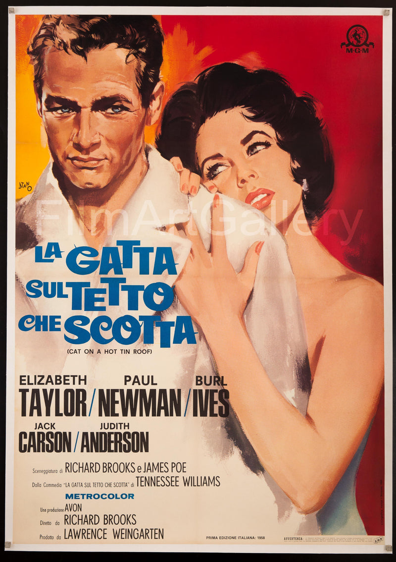 Cat on a Hot Tin Roof Italian 2 foglio (39x55) Original Vintage Movie Poster