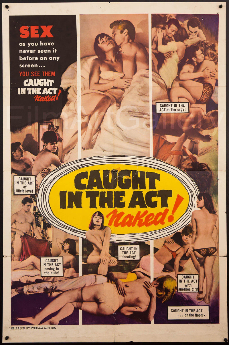 Caught In the Act Naked! 1 Sheet (27x41) Original Vintage Movie Poster