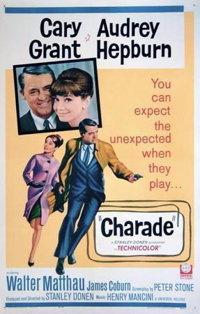 Charade 1 Sheet (27x41) Original Vintage Movie Poster