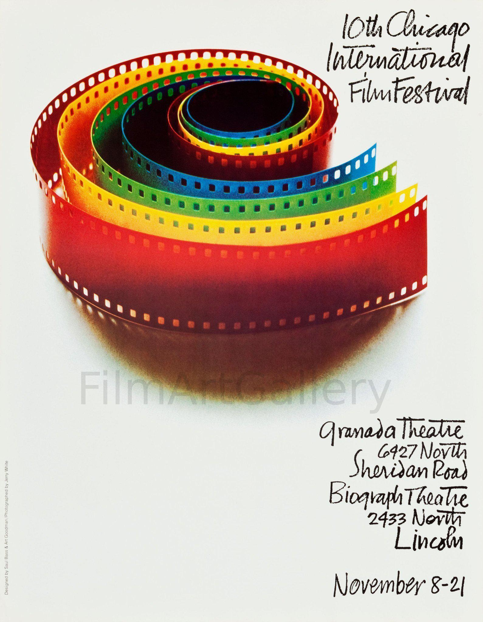 Chicago Film Festival (Saul Bass) 19x24 Original Vintage Movie Poster