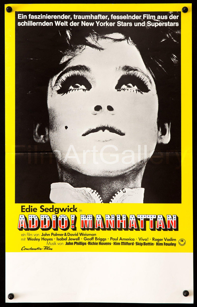 Ciao Manhattan 12x17 Original Vintage Movie Poster