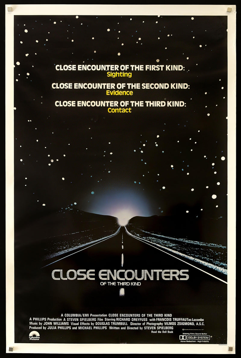 Close Encounters of the Third Kind 1 Sheet (27x41) Original Vintage Movie Poster