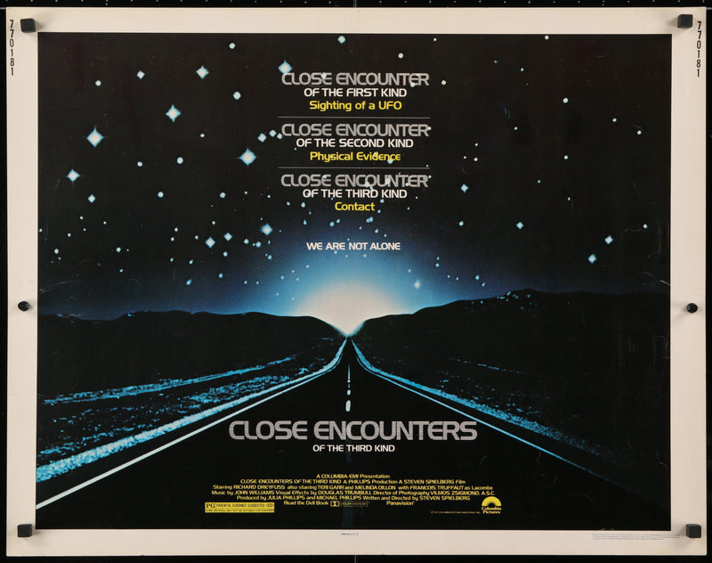 Close Encounters of the Third Kind Half Sheet (22x28) Original Vintage Movie Poster