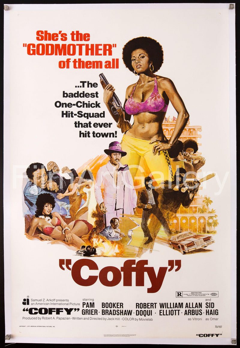 Coffy 1 Sheet (27x41) Original Vintage Movie Poster