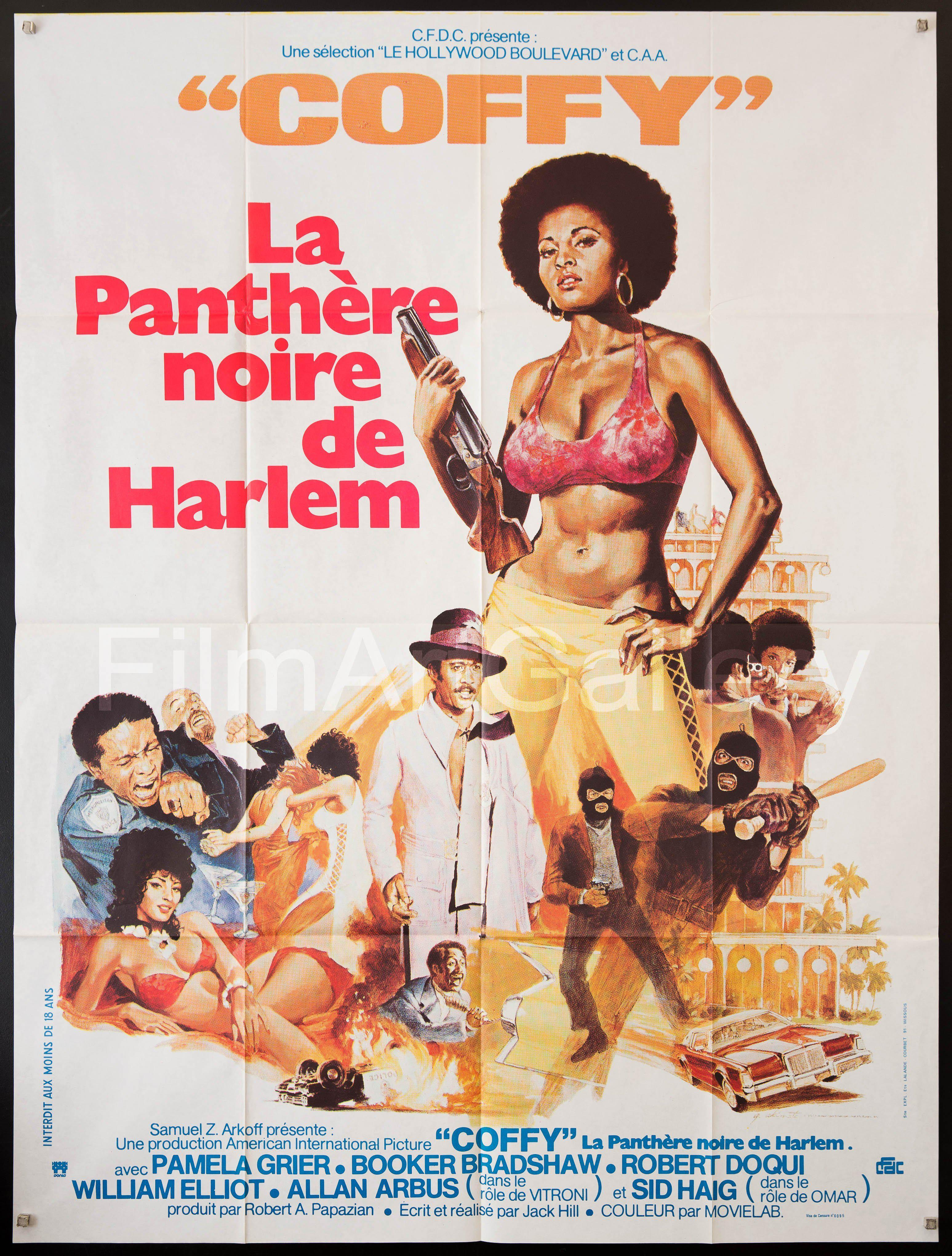 Coffy French 1 panel (47x63) Original Vintage Movie Poster