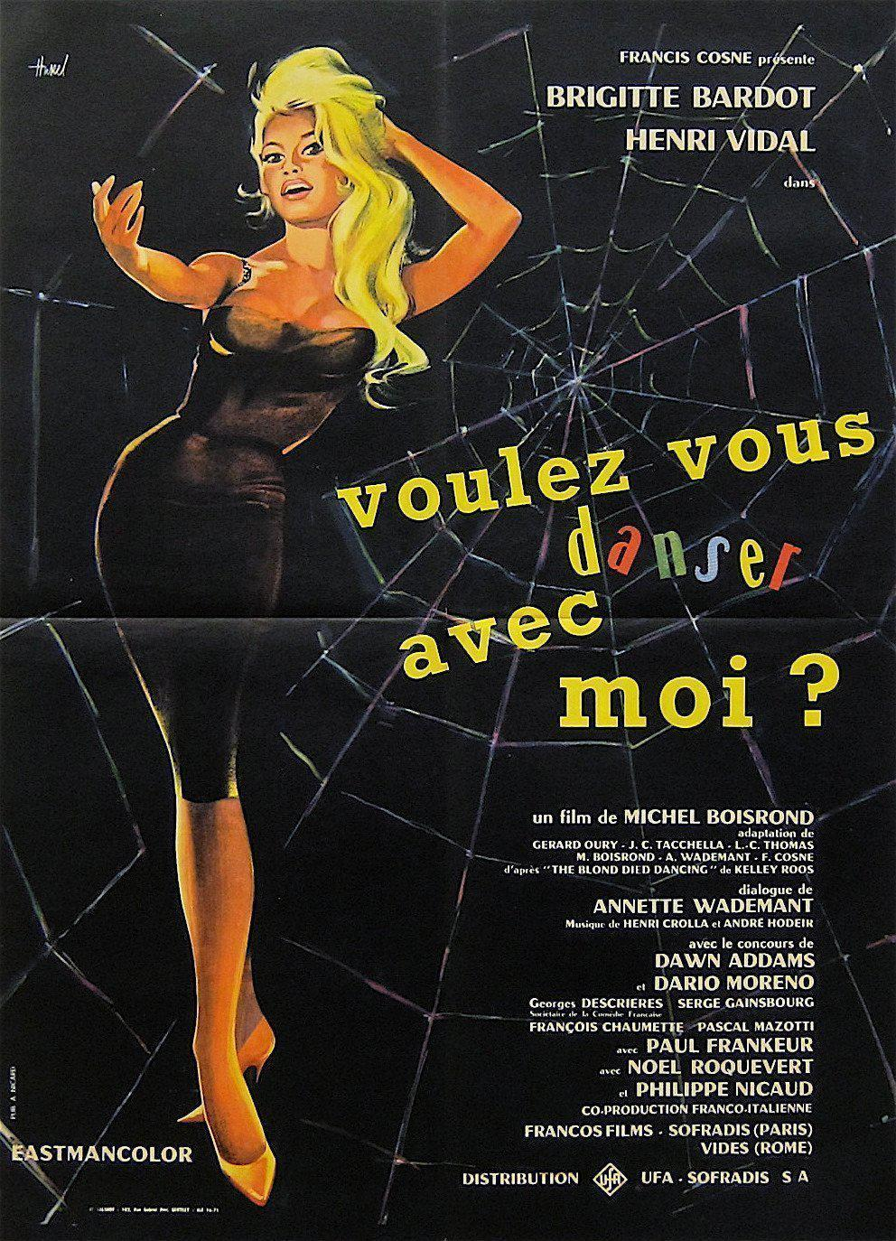 Come Dance with Me (Voulez-Vous Danser Avec Moi) French small (23x32) Original Vintage Movie Poster