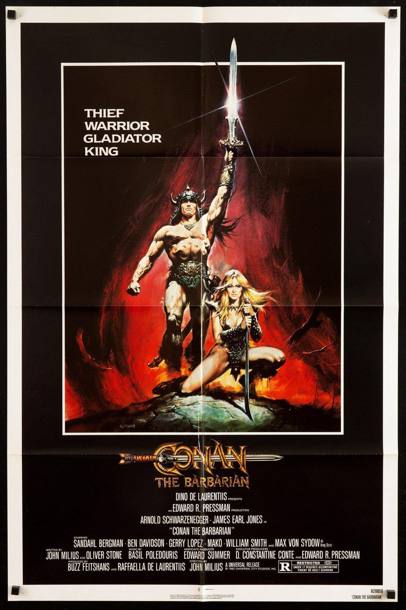 Conan the Barbarian 1 Sheet (27x41) Original Vintage Movie Poster