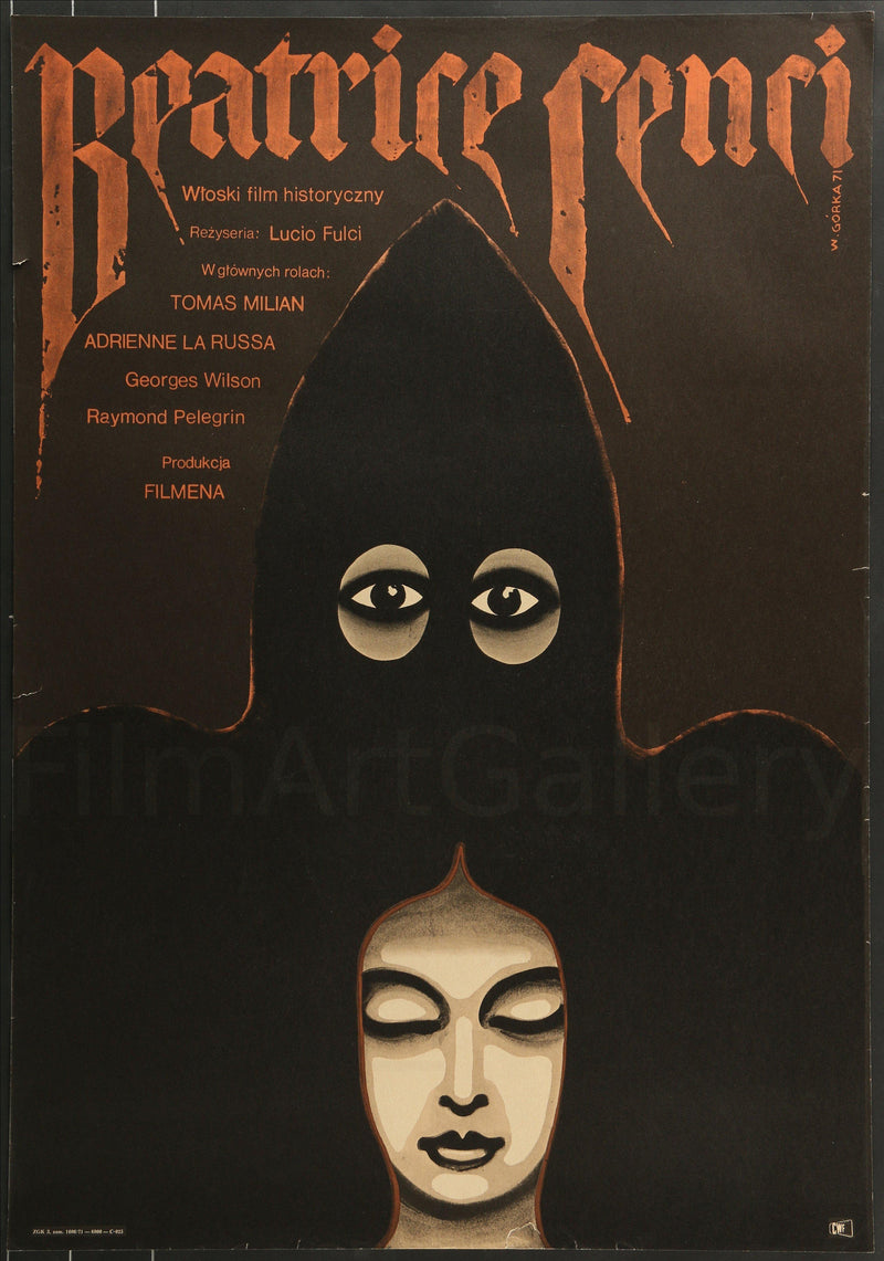 Conspiracy of Torture (Beatrice Cenci) Polish A1 (23x33) Original Vintage Movie Poster