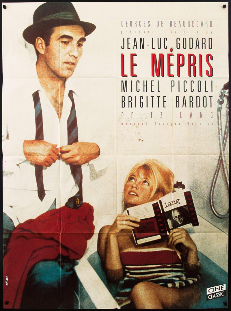 Contempt (Le Mepris) French 1 Panel (47x63) Original Vintage Movie Poster