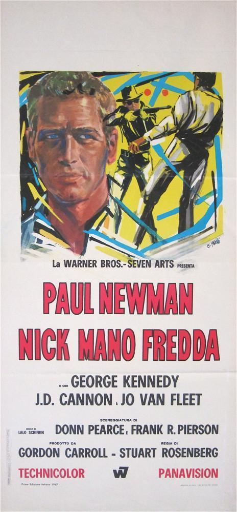 Cool Hand Luke Italian Locandina (13x28) Original Vintage Movie Poster